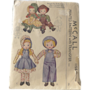 1944 Pattern Rag Dolls Complete Edith Ackley Type