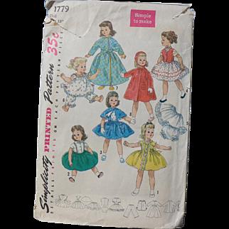 "1950s Complete Pattern 15"" Sweet Sue and Alexander Binnie Walker"