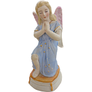 Victorian German Bisque Hand Painted Angel c 1880-90