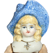 Antique German Small China Bonnet Head Doll!