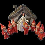 BAPS Snow White and Seven Dwarfs Complete German Frau von Arps