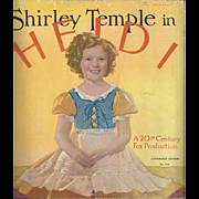 1937 Shirley Temple Heidi Book