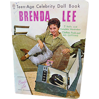 Uncut 1961 Brenda Lee Paper Doll Book