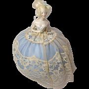 wigged German half doll with Pincushion Base