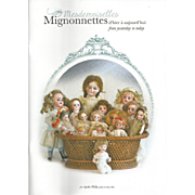 New! Gorgeous Doll Book Mignonettes from Yesterday to Today Agathe Philip French and English