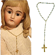 Vintage Old Store Stock 1940s Small Rosary Doll Sized! Occ Japan