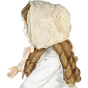 Lovely Antique French Lace Doll Bonnet!