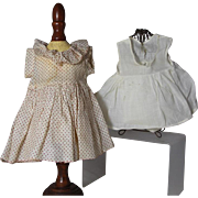 1930s Composition Ideal Shirley Temple Doll Factory Curly Top Dress and Onesie!