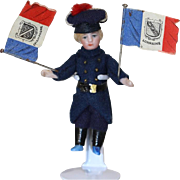 101-Year-Old Antique Mini French Flags for Dollhouse Sized Doll!