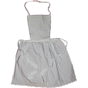 Antique French Sweet Little White Cotton Child's Apron
