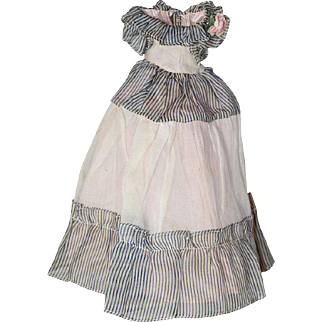 Beautiful c1940s Factory Doll Southern Belle Dress w Square Snaps!