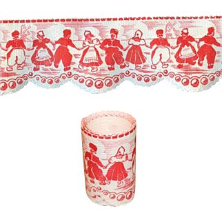 Beautiful German Antique Doll Trim Wallpaper for Dollhouse or Roombox! Old Store Stock!