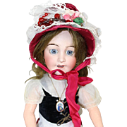 Old Store Stock from SFBJ/Jumeau Factory French Doll Hat Red w Glass Berries!