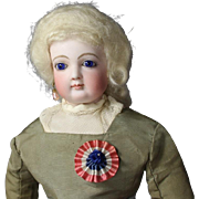 Paris Find! Antique French Flag Cockade (Cocarde) for Bleuette French Fashion Doll