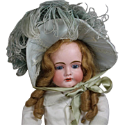 SALE PENDING TO JACKIE!  Absolutely Luscious French Bebe Doll Hat Bonnet w Feathers!
