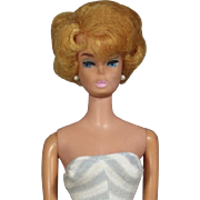 Vintage 1950s Sandy Blonde Bubblecut Barbie Doll!