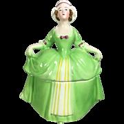 Antique German BAVARIA Lady Dresser Doll Powder Jar!