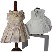 Ideal Shirley Temple Doll Factory Curly Top Dress and Onesie!  ORIGINAL 1930s Compo