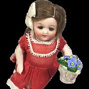 Antique Czech Glass Mini Doll Dollhouse Sized Flowers in Flower Pot!