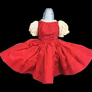 Vintage Tagged Cissette Doll Red Taffeta Dress 1950s