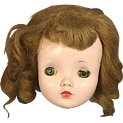 Vintage Mme Alexander CISSY Doll Head for Parts, Repair