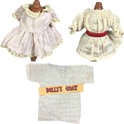 "Lot of Small Antique Doll Clothes for 5-7"" Dolls"