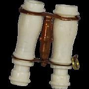 Antique French Fashion Doll Bone Binoculars!
