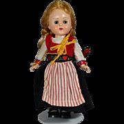 """1959 MINT! Vogue Ginny Doll All Orig """"Far Away Lands"""" - Bent Knee Walker, Perfect Braids!"""