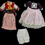 """1959 Vogue Ginny Doll 2 Original Outfits """"Far Away Lands"""""""