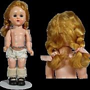 1950s MINT! Vogue Ginny Doll - Bent Knee Walker, Perfect Braids!