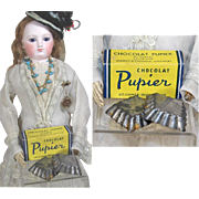 Antique Doll Sized French Chocolate (Chocolat) Box and Candy Molds!