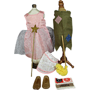 "1963-64 Charmin' Chatty Doll ""Let's Play Cinderella"" Clothing Set !"