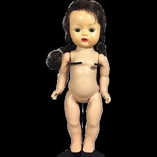 """1950s Nancy Ann Muffie Doll 8"""" Beautiful! SL Walker"""