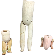 3 Antique Doll Bodies with Limbs