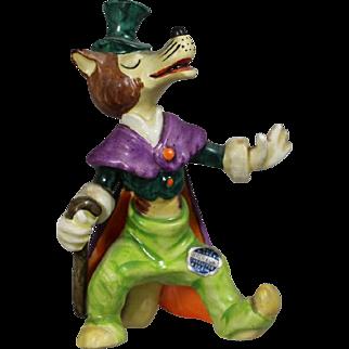 Vintage Goebel Walt Disney Brer Fox / Honest John Pinocchio Figurine!  Excellent! HTF!