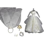 Vintage Barbie Bride Bridal Outfit - Gown & Accessories!