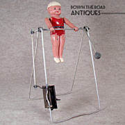 Celluloid and Metal Acrobat Wind-up Toy - Japan - NEAR MINT - 1920's