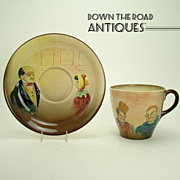 Royal Dalton Cup and Saucer - Hand-painted Raised Details