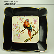 Hand-painted Noritake Charger with Exotic Bird