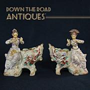 Beautiful Bisque Nodding Oriental Figurine Nodder Planters