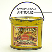 Tin Advertising Patton's Sunproof Liquid Paint Bank
