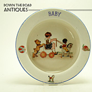 Baby Plate with Gollywog - Czechoslovakian