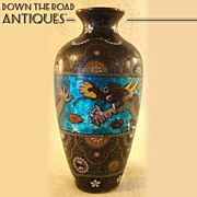 Japanese Cloisonné Vase with Dragon - 1880's