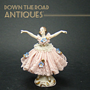 Finely Detailed German Ballerina Porcelain Figure - 1910