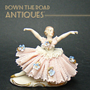 Porcelain German Ballerina Figurine - 1910
