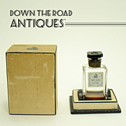 "Perfume Bottle with Cameo Cut Stopper - Paris, France - ""My Sin"""