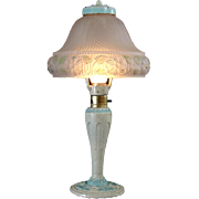 Aladdin Boudoir Lamp with Satin Glass Shade - All Original
