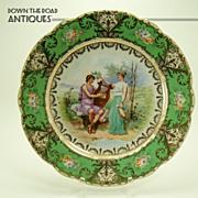 Austrian Hand Painted Cabinet Portrait Plate - c.1910