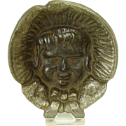 Nickel Plated Cast Iron Pin Tray - Little Girl in Bonnet
