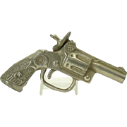 "Cast Iron Nickel Plated Child's Cap Gun - ""Buddy"" - 1890"